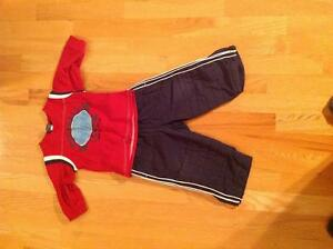 Lined splash pants with sweater