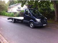 2013 BLUE MERECEDES SPRINTER 313CDI RECOVERY TRUCK NEW SHAPE LWB BRAND NEW BED AND WINCH FSH