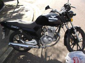 FOR SALE 2011 LEXMOTTO STREET 125cc 5 Gears.