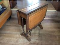 Small Vintage Drop Leaf Side Occasional Table