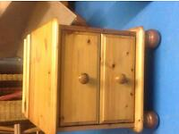 Solid Pine Bedside Cabinet - very good condition