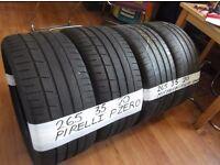 matching pairs of 265 35 20 pirellis & michelins £100 pair sup & fittd(LOADS MORE AV 7-DAYS)