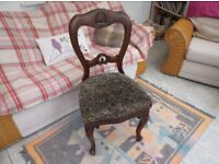 Set of 4 Queen Anne dining chairs