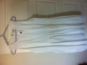 New Gap linen/cotton white dress sz14
