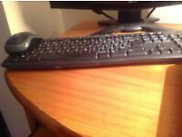 Blue Logitech Keyboard (Comes With Mouse)