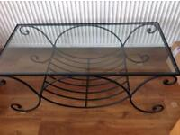 Marks and Spencer's wrought iron coffee table