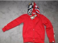 Bathing ape Jacket Shark Head full zip hoodie