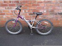 girls mountain bike, age 5 to 9 years,