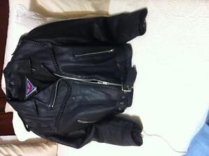 Mob real leather motor cycle jacket for a woman