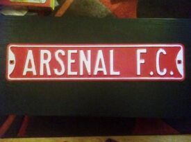 Arsenal FC - Metal football sign for door / wall