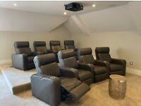 8 Reclining Cinema Chairs