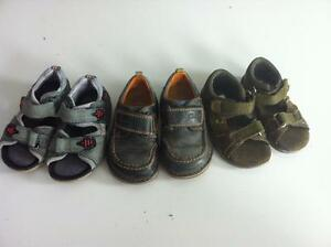 Lot 3 pairs of Clark's sandals and shoes size 5 toddler