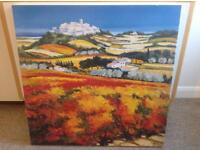 Picture on canvas view of Mediterranean