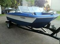 16'' Cruiser Inc. Deep Beautiful Trihull Bowrider+75HP Johnson!