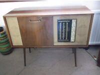 ecko srg 412 60's stereogram radiogram valve record player garrard autoslim new stylus sputnik legs