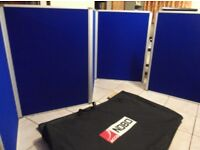 Nobo 2 x 4 linked folding Boards size of each board is 1m high x 76cm wide in a bag