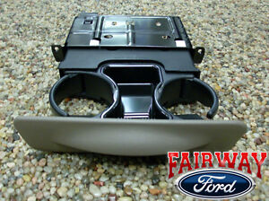 99 00 01 Super Duty F250 F350 F450 F550 OEM Ford Dash Cup Holder PARCHMENT TAN