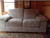 2 seater bed settee in beige cord immaculate