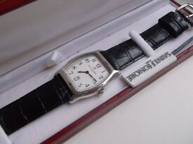 MENS STYLISH SOLID SILVER 925 SOLID SILVER SAINT HONORE PARIS WATCH MINTY CONDITION PRESENT