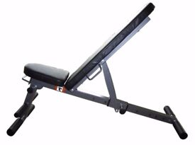 Exercise Bench 7 in 1 Weight Training Bench Folding & Adjustable: NEW