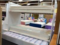 Cameo Deluxe Bunkbed & Guest Bed with Mattresses including Staircase with Storage