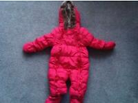 Girls 3-6month Pink Snow suit