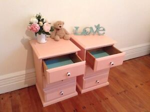 Coral style 2 bedside tables Cremorne Point North Sydney Area Preview