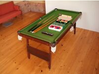 Snooker Table 6' x 3' with folding legs