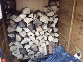 Seasoned hardwood