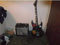 Columbus 3 series electric guitar and amp