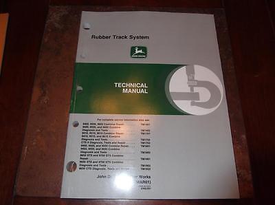 JOHN DEERE 9400 9500 9600 COMBINE RUBBER TRACK SYSTEM TECHNICAL REPAIR  MANUAL