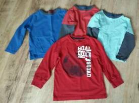 Boys long sleeved tshirts age 4-5 years