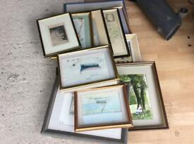 Pile of picture frames