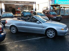 04 VOLVO C 70 CONVERTIBLE FULL LEATHER TRIM V/CLEAN £1995