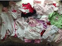Girls clothes bundle 0-9 months