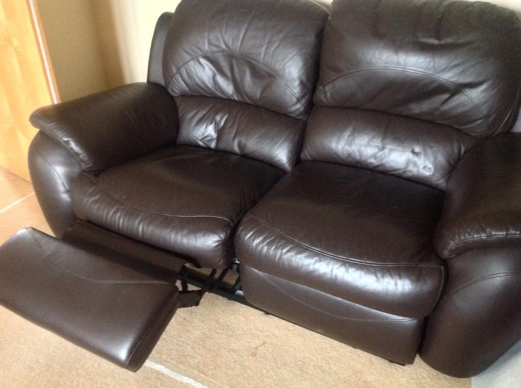 Leather Sofa For Sale In Melksham Wiltshire Gumtree