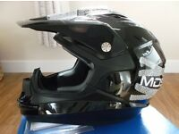 "AGV / MDS ON-OFF ""Lace Up"" MotoX ATV Quad Motorcross Helmet- BNWT / New /Boxed in Adult Size Small."
