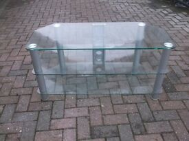 TWO GLASS TV STANDS £10 EACH