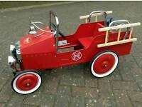 Baghera Fire Truck pedal car red
