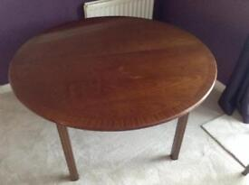G Plan dining table and two carver chairs