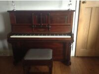 Chappell upright piano and stool