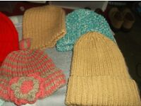 100% wool hand knitted hats [made by my mum] £5 each or £40 the lot with free postage
