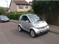 Smart City Passion 61 auto coupe,2004,silver,genuine 72000,Fsh to 70,000,12 mths mot till 14/08/2019