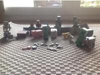 Plastic Minecraft characters and blocks