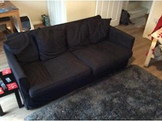 Ikea sofa dark grey