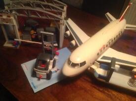 Playmobil Airport, Control Tower, Cargo Terminal and Aeroplane
