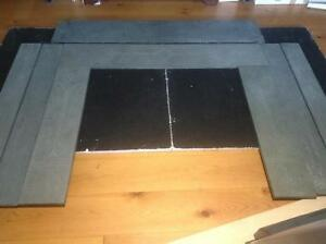Antique Green Slate Fireplace Surround & Mantle - make an offer