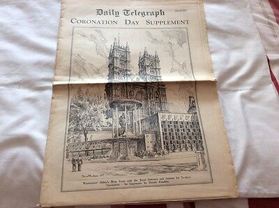 VINTAGE DAILY TELEGRAPH CORONATION DAY SUPPLEMENT JUNE 2ND 1953