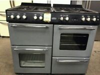 Belling 100cm Grey A+ Class 7 Burners Gas Range Cooker With Electric Oven