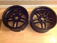 """18"""" BMW M PARALLEL ALLOYS 9.5J REAR ONLY - IN BLACK FACTORY FITS E39 OR E38 X2 BOTH WIDE REARS ALLOY"""